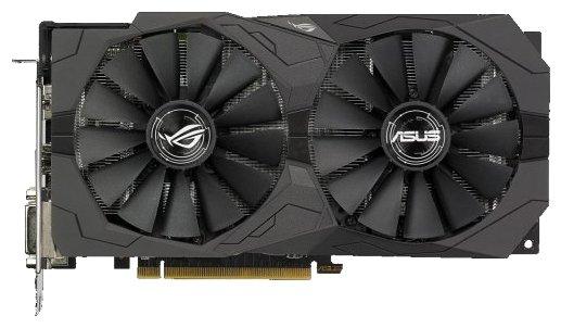 ASUS Видеокарта ASUS Radeon RX 570 1300Mhz PCI-E 3.0 4096Mb 7000Mhz 256 bit 2xDVI HDMI HDCP Strix OC Gaming