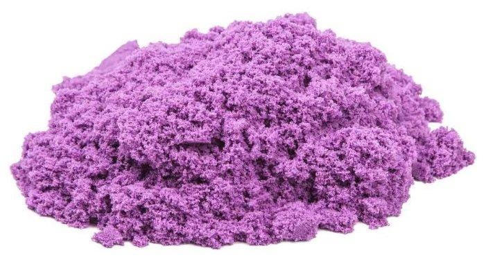 Кинетический песок Космический песок базовый сиреневый 2 кг пластиковый контейнер
