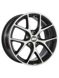 Диски BBS SR 7,5x17 5x108 D70 ET45 цвет Vulcano grey black diamond cut - фото 1