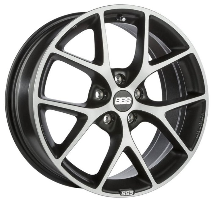 1. Диски BBS SR 8,0x18 5x114,3 D82 ET40 цвет Vulcano grey black diamond cut