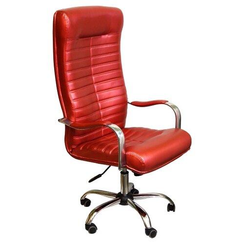 Компьютерное кресло Креслов Орион КВ-07-130112, обивка: искусственная кожа, цвет: красный кресло компьютерное креслов орман кв 08 130112 0453