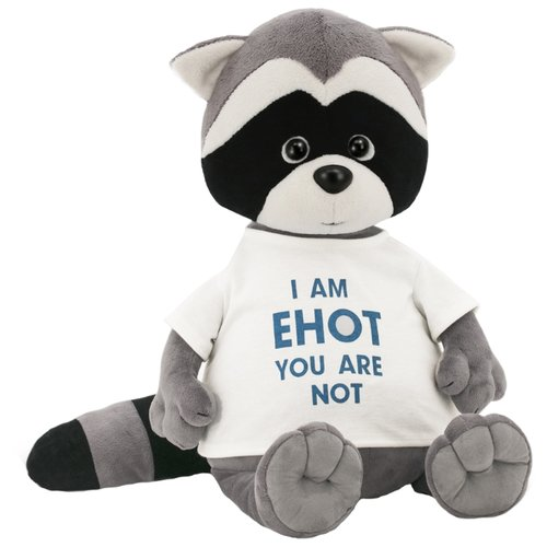 """Мягкая игрушка Orange Toys Енотик Дэнни в футболке """"I am Енот"""" 25 см"""