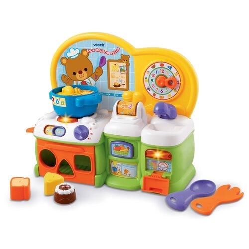 Купить Интерактивная развивающая игрушка VTech Моя первая кухня белый/желтый/зеленый/оранжевый, Развивающие игрушки