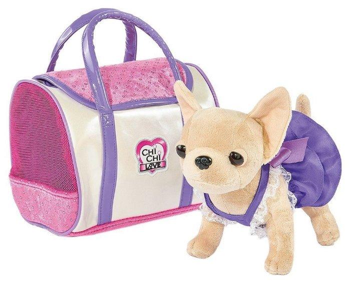 Мягкая игрушка Simba Chi-Сhi Love Собачка Чихуахуа в платье с сумочкой, 20 см