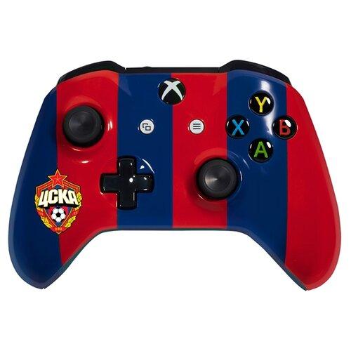 Купить Геймпад RAINBO Xbox One Wireless Controller FC CSKA красно-синий