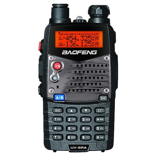 Рация Baofeng UV-5RA черный protective silicone walkie talkie case for baofeng 5r 5ra 5re 5rb tyt f8 black