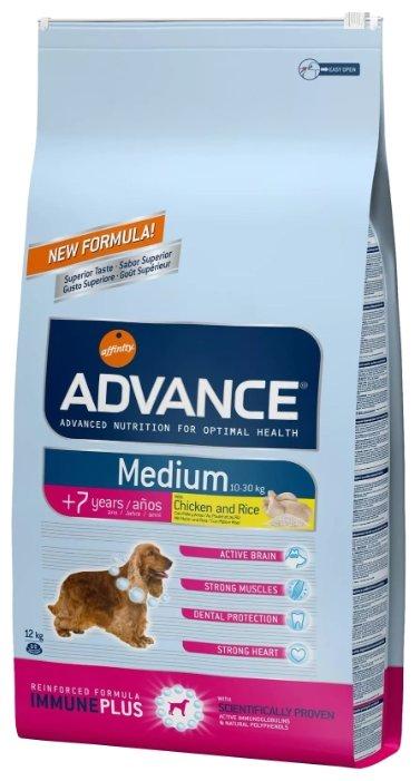 Корм для собак Advance Medium +7 Years курица и рис