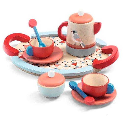 Купить Набор посуды DJECO Чай 06512/17 разноцветный, Игрушечная еда и посуда
