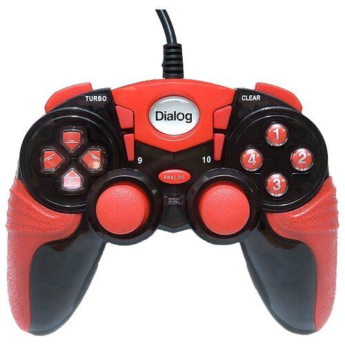 Геймпад Dialog GP-A15 черный/красный