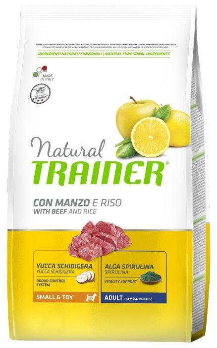 Корм для собак TRAINER Natural Adult Mini Beef and rice dry