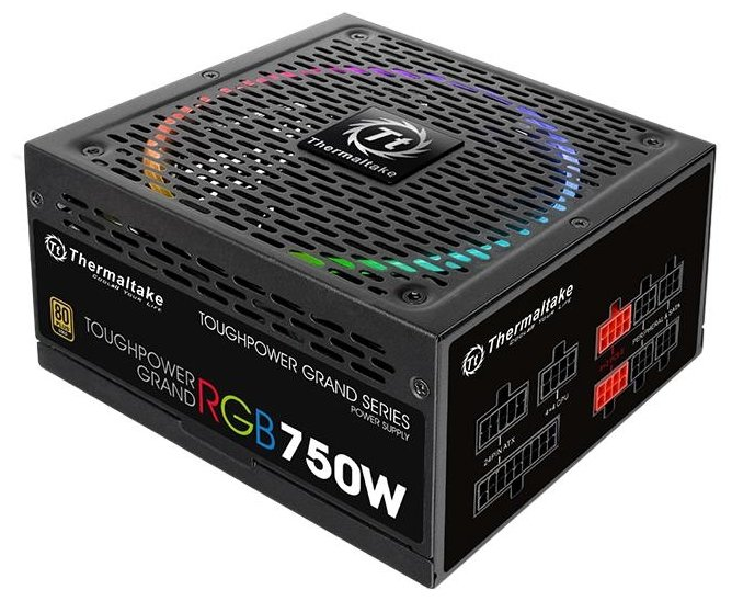 Блок питания Thermaltake Toughpower Grand RGB Gold Fully Modular 750W PS-TPG-0750FPCGEU-S