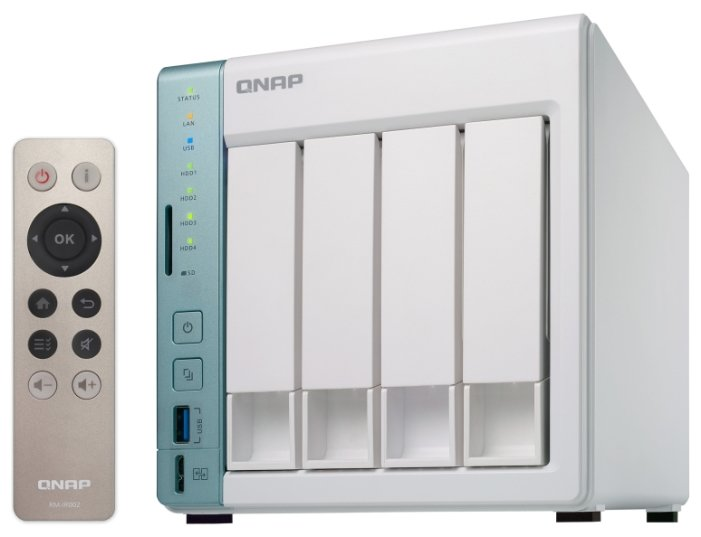 Сетевое хранилище данных QNAP D4 Pro NAS, 4 Hot-Swap tray w / o Hdd. Celeron N3060 dual-core 1.6GHz-2.48GHz, 1GB DDR3L (1x1GB up to 8GB) , HDMI, 2xGE LAN, 3xUSB 3.0