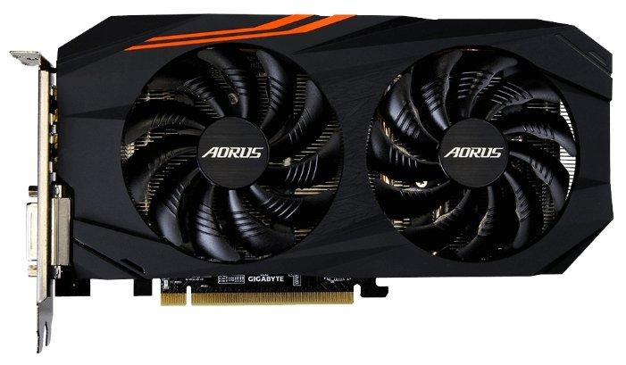 GIGABYTE Видеокарта GIGABYTE Radeon RX 570 1280MHz PCI-E 3.0 4096MB 7000MHz 256 bit DVI HDMI HDCP Aorus