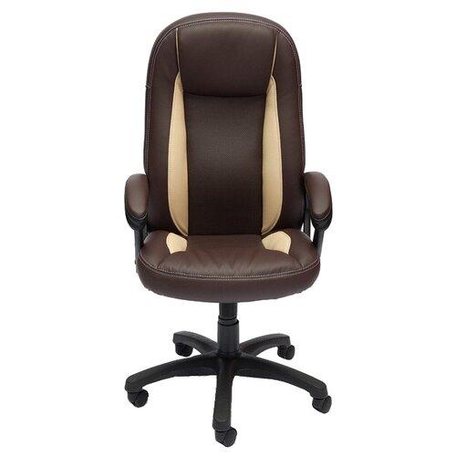 цена на Компьютерное кресло TetChair Бриндиси, обивка: искусственная кожа, цвет: коричневый/бежевый