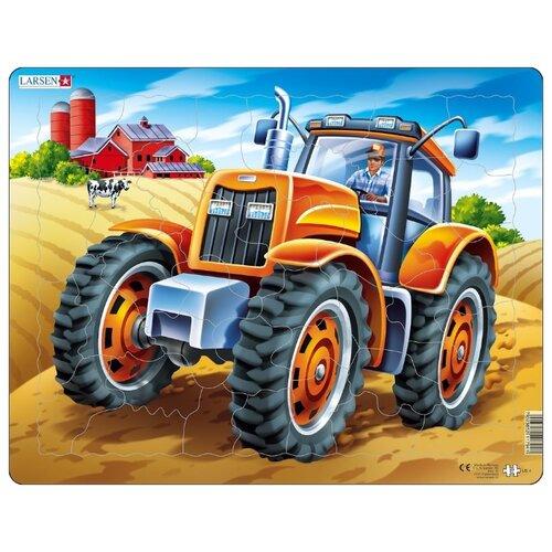 Купить Рамка-вкладыш Larsen Трактор (US4), 37 дет., Пазлы