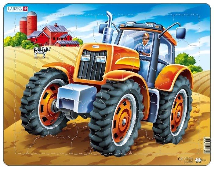 Рамка-вкладыш Larsen Трактор (US4), 37 дет.