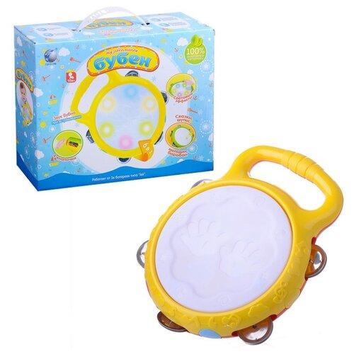 Купить TONG DE бубен 10-1166/TD/ 1011 желтый, Детские музыкальные инструменты
