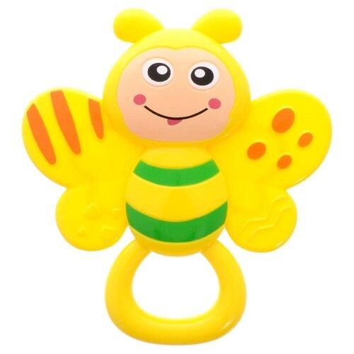 Купить Прорезыватель-погремушка Умка Пчелка B1465647-R желтый/зеленый, Погремушки и прорезыватели