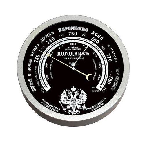 Барометр RST 07837 металлик/черный