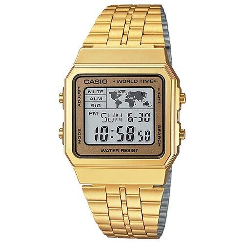 цена Наручные часы CASIO A-500WGA-9E онлайн в 2017 году