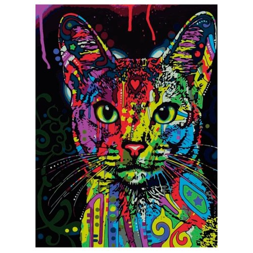 "Цветной Картина по номерам ""Кошка поп-арт"" 30х40 см (ME1006)"