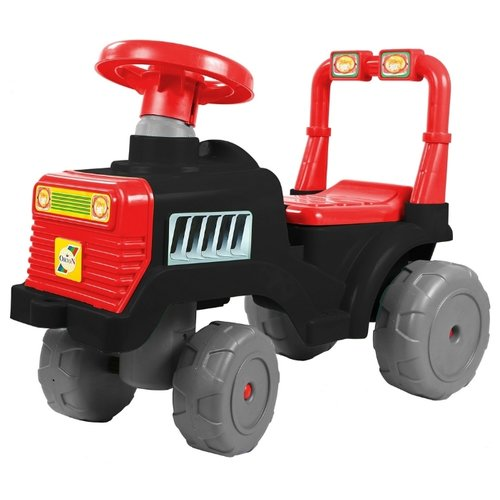 Купить Каталка-толокар RT Трактор ОР931 (5618) со звуковыми эффектами черно-красный, Каталки и качалки
