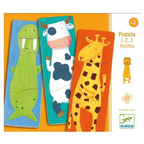 Купить Набор пазлов DJECO Забавные животные (01551), Пазлы