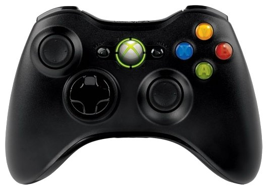Microsoft Xbox 360 Wireless Controller Black (Xbox 360)