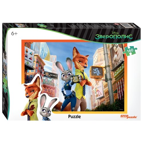 Фото - Пазл Step puzzle Disney Зверополис (94054), 160 дет. пазл step puzzle мельница лунтик 94033 160 дет