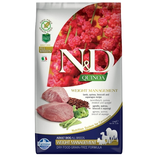 Farmina (2.5 кг) N&D Canine Quinoa Weight Management Lamb Корма для собак