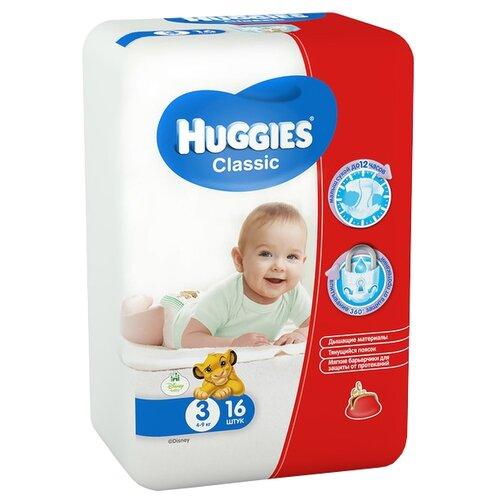 Фото - Huggies подгузники Classic 3 (4-9 кг), 16 шт. skippy подгузники econom 3 4 9 кг 56 шт