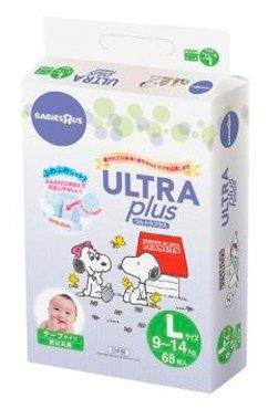 Ultra Plus подгузники Snoopy L (9-14 кг) 68 шт.