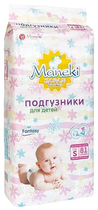 Maneki подгузники Fantasy S (4-8 кг) 81 шт.