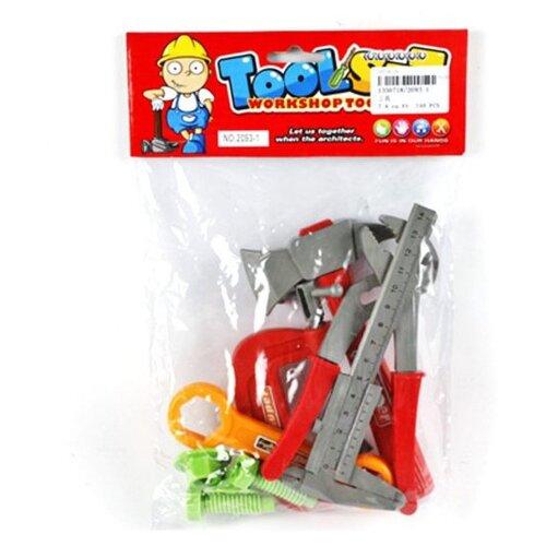 Shantou Gepai Набор строительных инструментов, 9 предметов 2093-1 набор инструментов shantou gepai наша игрушка 6607