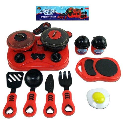 Купить Набор ABtoys Помогаю маме PT-00321 красный/черный, Детские кухни и бытовая техника