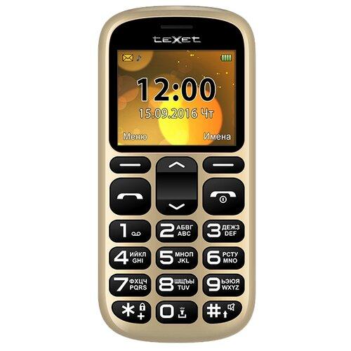 Телефон teXet TM-B306 золотистый
