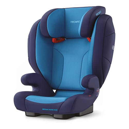 Автокресло группа 2/3 (15-36 кг) Recaro Monza Nova Evo Seatfix, Xenon Blue автокресло recaro monza nova evo seatfix гр 2 3 расцветка racing red