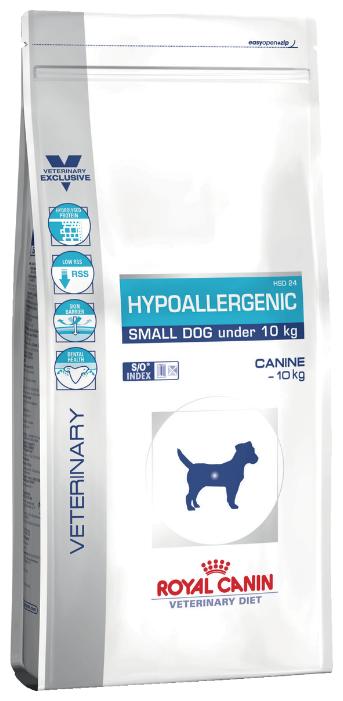 Роял Канин Hypoallergenic Small Dog Гипоаллердженик Смол Дог ХСД 24 гипоаллергенная диета для собак мелких пород