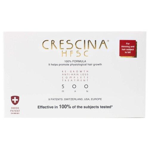 Crescina Ампулы комплекс для мужчин, дозировка 500: существенное выпадение волос, 3.5 мл, 20 шт. ducray неоптид лосьон от выпадения волос для мужчин 100 мл