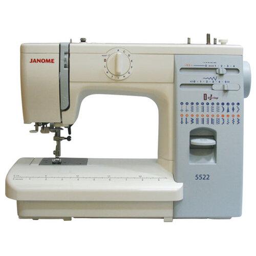 Швейная машина Janome 423S / 5522, бело-голубой