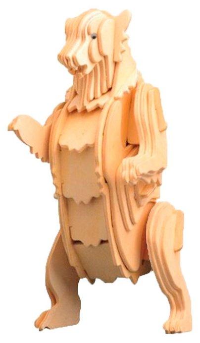 Сборная модель Мир деревянных игрушек Гризли (М022),,