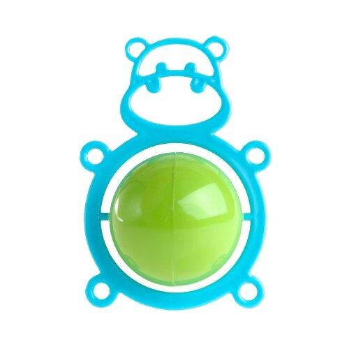 Погремушка Пластмастер Толстячок голубой/зеленый, Погремушки и прорезыватели  - купить со скидкой