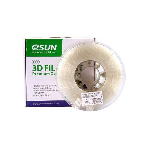 Фото - PETG пруток ESUN 1.75 мм, 1 кг, натуральный pla пруток esun 1 75 мм желтый 1 кг