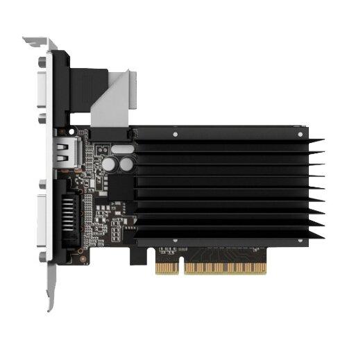 Видеокарта Palit GeForce GT 730 902Mhz PCI-E 2.0 2048Mb 1804Mhz 64 bit DVI HDMI HDCP Silent Retail