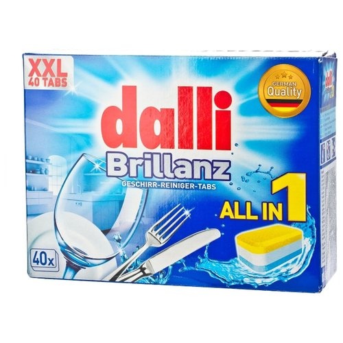 Dalli All in 1 таблетки для посудомоечной машины, 40 шт.
