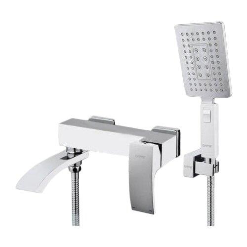 Однорычажный смеситель для ванны с душем Gappo Jacob G3207-8 белый/хромСмесители<br>