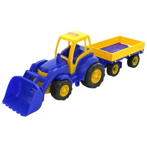 Фото - Трактор Полесье Чемпион с ковшом и прицепом (0520) 82 см трактор полесье алтай с прицепом 2 и ковшом 35363 66 см
