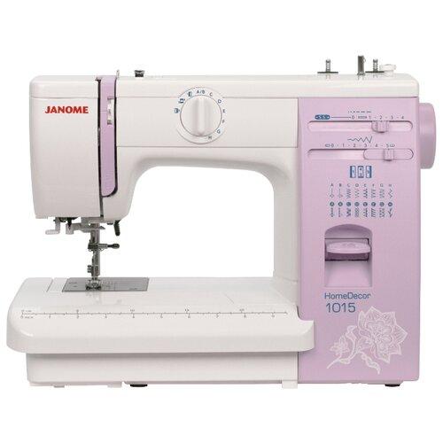 Швейная машина Janome HomeDecor 1015, бело-розовый швейная машина janome vs 54s бело сиреневый