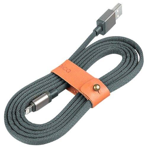 Кабель Rombica LINK USB - Lightning 1.5 м серыйКомпьютерные кабели, разъемы, переходники<br>