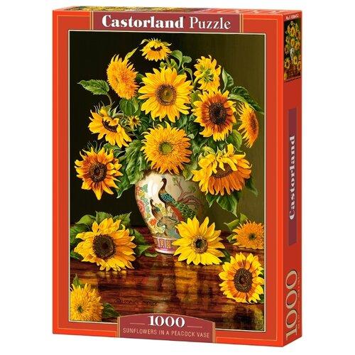 Купить Пазл Castorland Sunflowers in a Peacock Vase (C-103843), 1000 дет., Пазлы